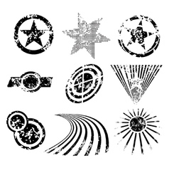 distressed shapes vector image vector image