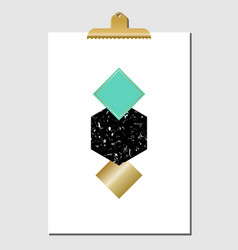Geometric shapes poster vector