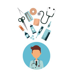 medical doctor icon vector image