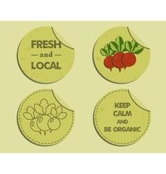 Summer Farm Fresh branding identity elements vector image vector image