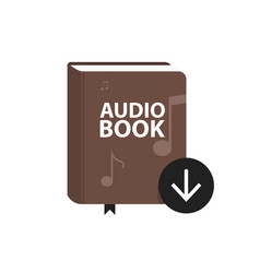 Audio book icon with download arrow button online vector