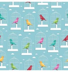 birdcage pattern vector image vector image