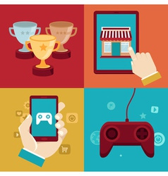 game marketing vector image vector image