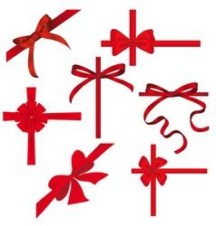silk ribbons vector image vector image