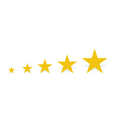 5 gold stars with shadow vector image