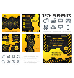 Abstract tech colorful infographic concept vector