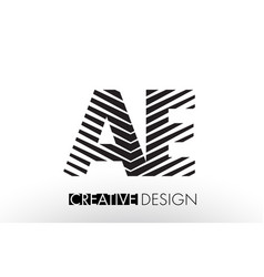 Ae a d lines letter design with creative elegant vector
