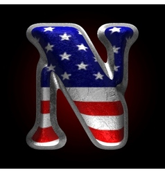 American metal figure n vector