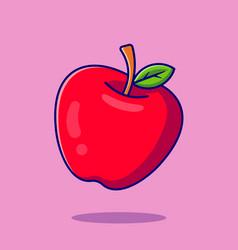Apple fruit cartoon icon vector