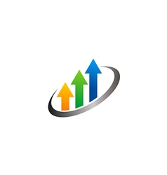 arrow colorful chart business finance logo vector image