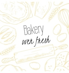 Bakery sketched in vector image