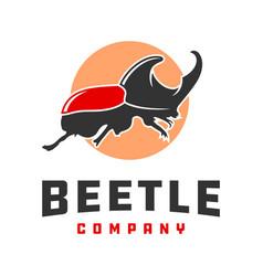 beetle animal logo design vector image