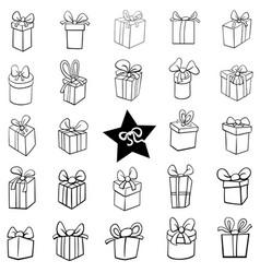 black and white cartoon christmas holiday vector image