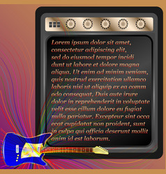 blue electric guitar and combo amp vector image