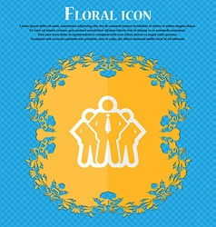 Business team Floral flat design on a blue vector