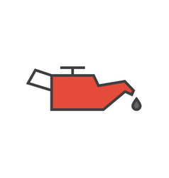 Car engine oil icon vector