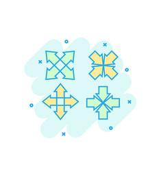 cartoon colored arrows icon in comic style aim vector image