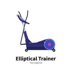 Cartoon elliptical trainer vector