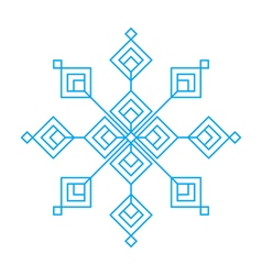 Christmas and winter - Blue snowflake icon vector