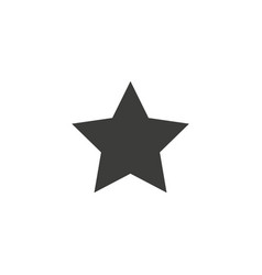 clasic star icon flat black pictogram vector image