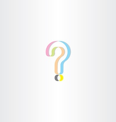 Colorful question mark logo design element vector