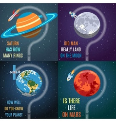 Colorful Space Flat Concepts vector