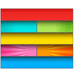 Comic colorful background vector