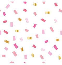 confetti seamless pattern festive background with vector image vector image