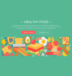 Cooking collection healthy food infographics vector