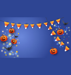 creative happy halloween sale banner with text vector image