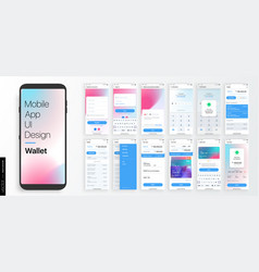 design a mobile application and site ui set vector image