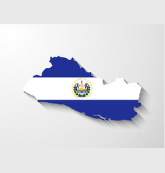 el salvador map with shadow effect vector image