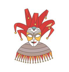 Elegant festive mask jester or harlequin vector