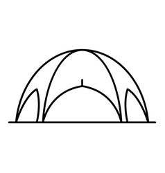 Event tent icon outline style vector