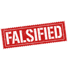 Falsified sign or stamp vector