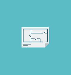 flat icon floor plan element vector image