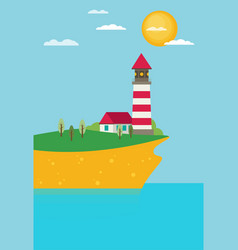 flat lighthouse vector image