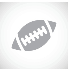 Football black icon vector image
