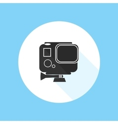 Gopro Hero HD Action Camera Pro Sport Silhouette vector image