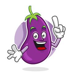 Got an idea eggplant mascot eggplant character vector