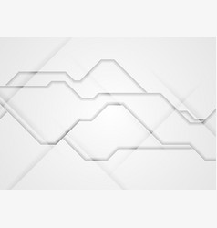grey abstract tech concept background vector image