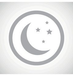 Grey night sign icon vector image