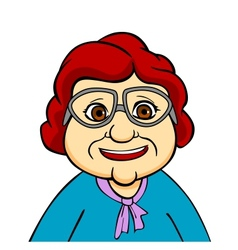 Happiness grandmother vector