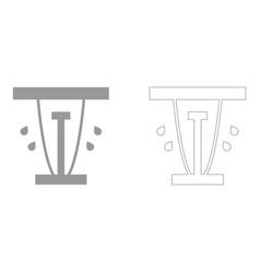 lawn sprinklers set icon vector image