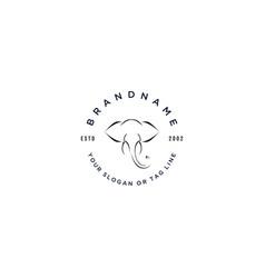 Logo design elephant vector