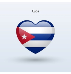 Love Cuba symbol Heart flag icon vector image
