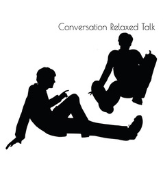 Man in Conversation Relaxed Talk pose vector