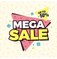 Mega sale banner retro edition vector