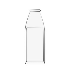 milk bottle isolated vector image