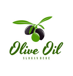 Modern olive oil logo template design olive oil vector